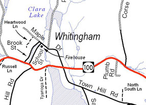 Whitingham road map